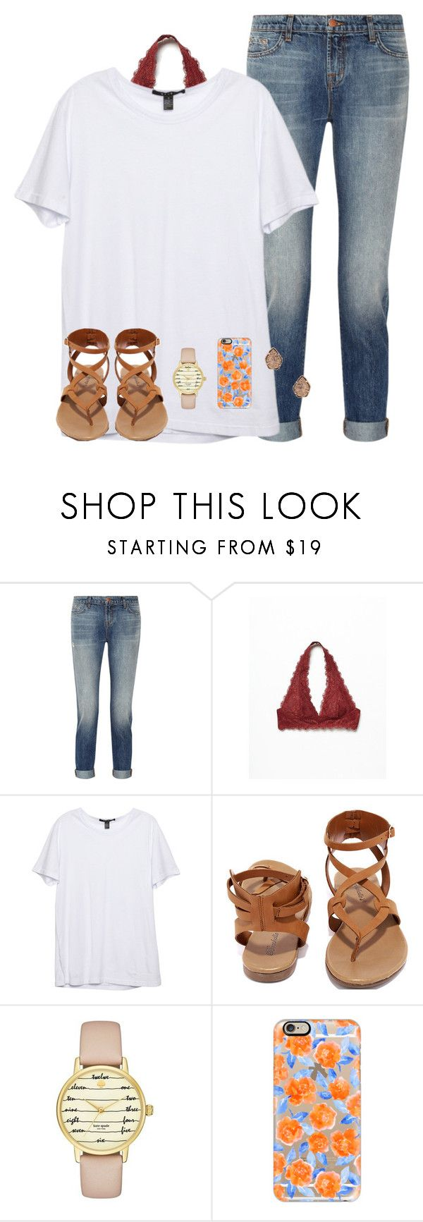 """this doesnt match at all lol"" by serenag123 ❤ liked on Polyvore featuring J Brand, Free People, Breckelle's, Kate Spade, Casetify and Kendra Scott"
