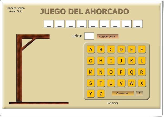 """""""Juego del ahorcado"""" (Lengua española de Secundaria)"""