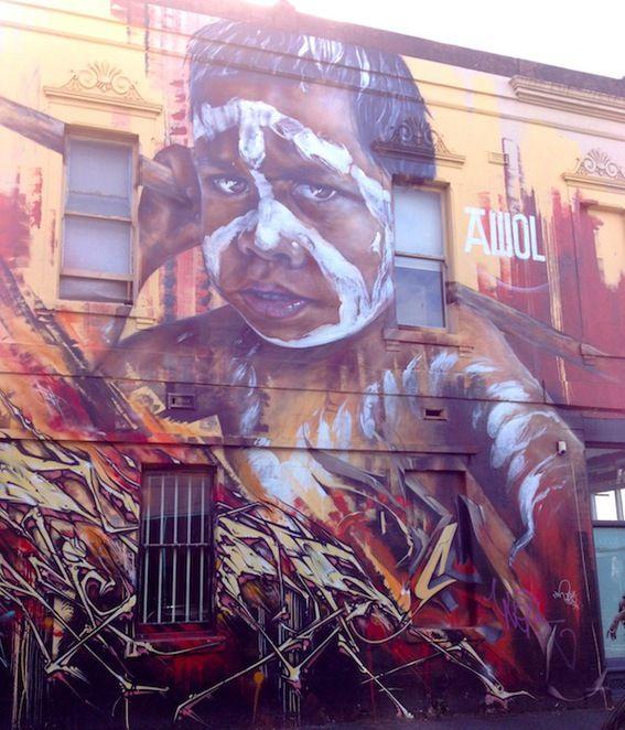AWOL street art Fitzroy St