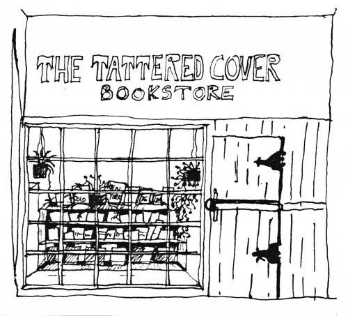 Original drawing of the original Tattered CoverCovers Originals, Tattered History, Covers Bookstores, Tattered Covers, Originals Tattered, Colorado