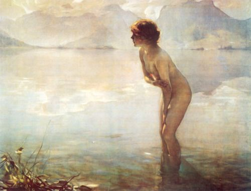 Hey Robin I need her printed and framed to be one of the girls in my bathroom. Too Cute Paul Emile Chabas, September Morn,   1912
