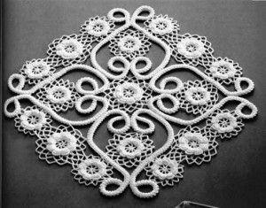 Gráfico toalinha em crochê coração com flores