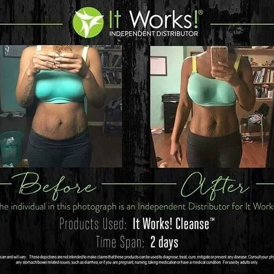 It Works! Cleanse Before and After. Time span of 48 hours ...