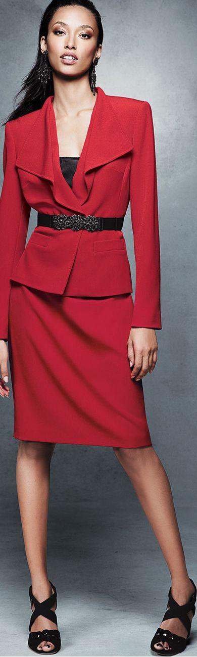 Albert Nipon Women's Suit in Red