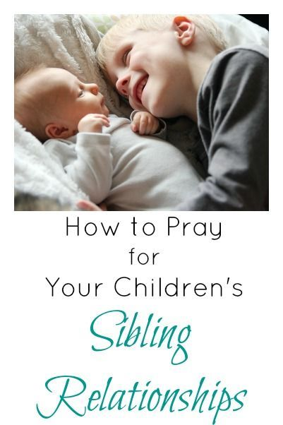 Sibling squabbles are inevitable. But how can you build a friendship between your children and their brothers and sisters? Prayer. How to Pray for Your Children's Sibling Relationships
