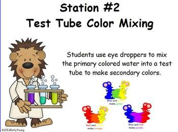 Color Science Centers by Young and Lively Kindergarten | Teachers Pay Teachers