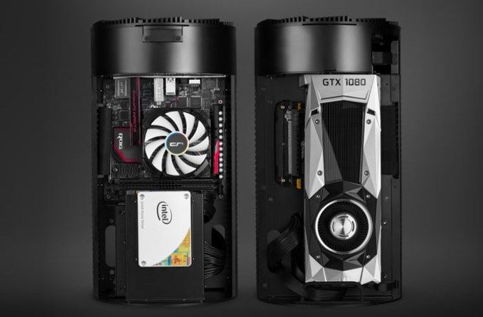 Cryorig Mini-ITX Mac Style PC Chassis designed specifically for gaming PCs the cylindrical PC chassis, enables system makers and enthusiasts to build Mac Pro-styled gaming computers with ease and accommodates a mini-ITX motherboard together with one graphics card