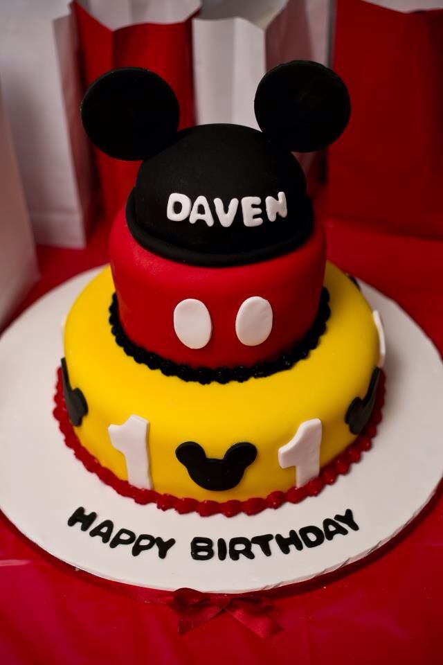 Mickey Mouse Cake Dominican