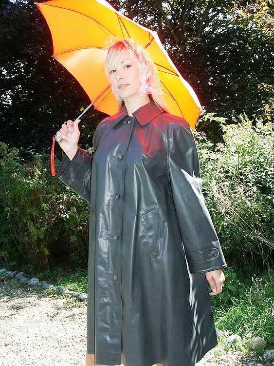 Well Protected In Her Klepper Raincoat Klepper