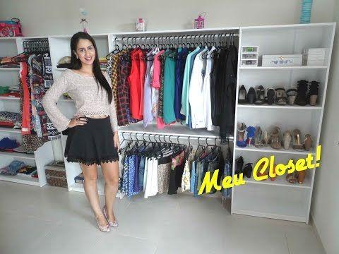 f543003f9 COMO MONTAR CLOSET ABERTO BARATO GASTANDO POUCO   POLY GONÇALVES - YouTube    closet   Closet pequeno, Closet simples, Como fazer um closet