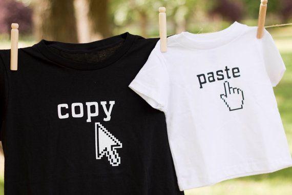 Papá o mamá y yo juego t-shirt: copiar y por littletreetopsbaby