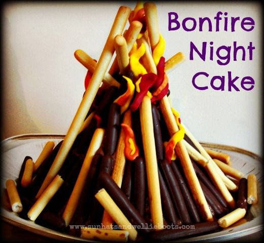 Bonfire Night Cake Birthday Graduation Party Ideas