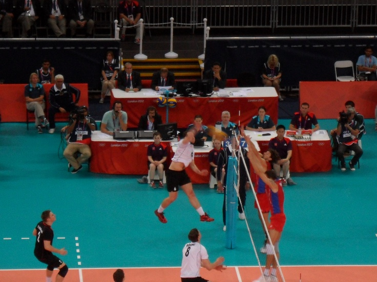 RUS v GER (0-3), London 2012 Mens Volleyball Preliminary round