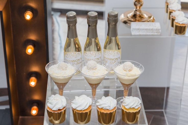 Divine desserts in white and gold for Shannon's 21st Birthday party!