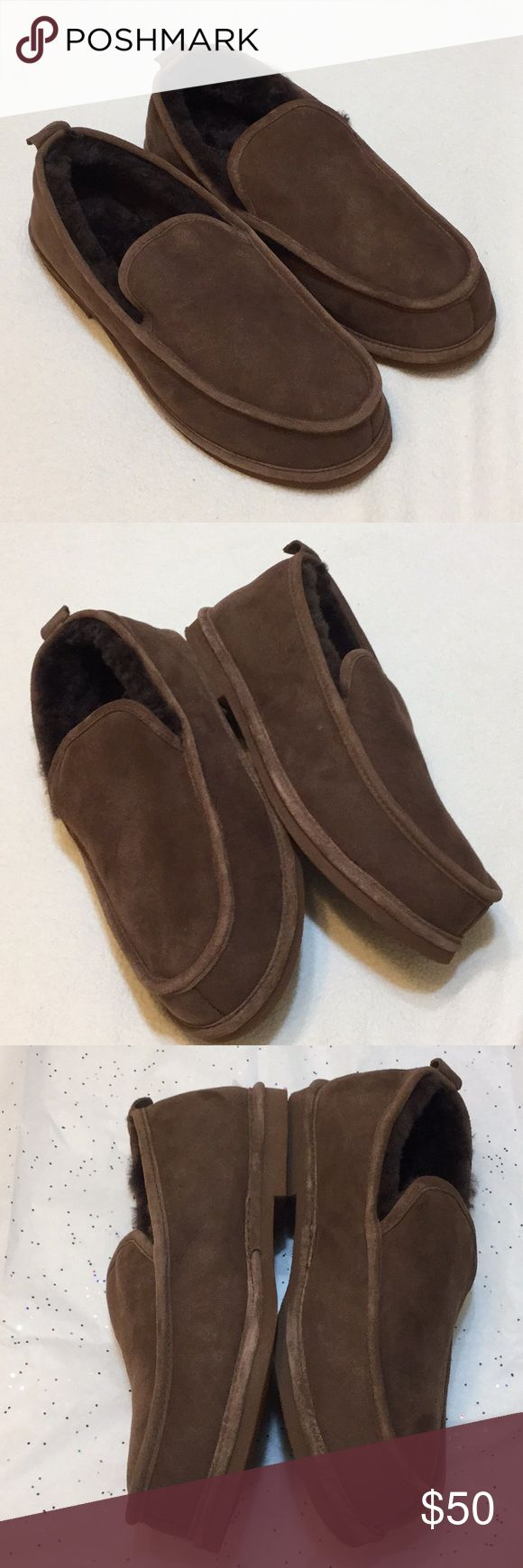 L.L.Bean Wicked Good Slippers Chocolate Brown 12M Men's L L Bean Chocolate Brown Wicked Good Slip-On Shearling Sheepskin Slippers Sz 12 Medium   Like New Condition   Check Out My Other Items   Thank You For Looking L.L. Bean Shoes Loafers & Slip-Ons
