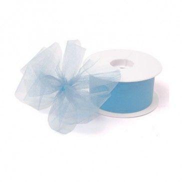 Tule lichtblauw is geschikt voor het maken van mooie strikken.