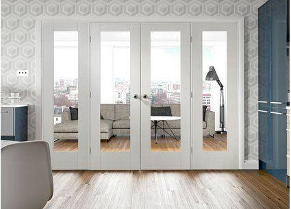 Easi-Frame White Room Divider Door System - Internal Room Dividers