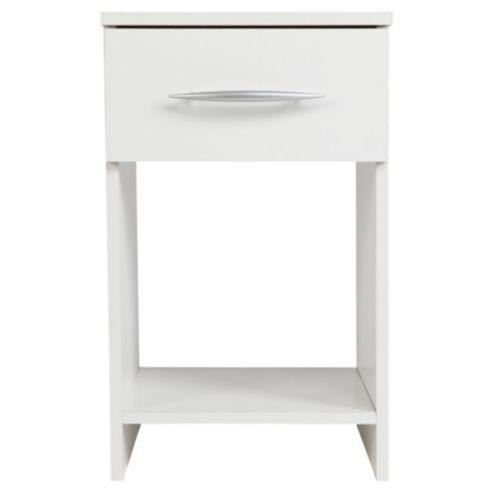 Ashton 1 Drawer Bedside Cabinet White