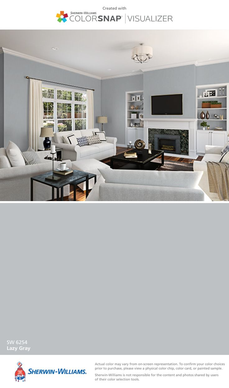 I found this color with ColorSnap® Visualizer for iPhone by Sherwin-Williams: Lazy Gray (SW 6254).