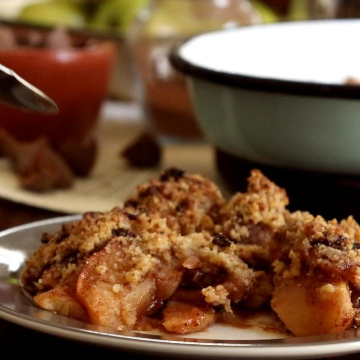 Apple Crumble Receta, Crumble Recipe, Food Therapy, Food Porn, Yummy Food, Tasty, Cooking Recipes, Healthy Recipes, Healthy Muffins