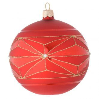 Palla vetro decori geometrici oro 100 mm   vendita online su HOLYART