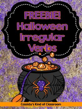 This FREEBIE includes three worksheets perfect for teaching irregular past tense verbs in October:-Find the Past Tense Verb and Use it In a Sentence-Present Tense and Past Tense Match Up: Cut and Paste-Find the Verbs in a Word Search*Answer - repinned by @PediaStaff – Please Visit ht.ly/63sNtfor all our pediatric therapy pins