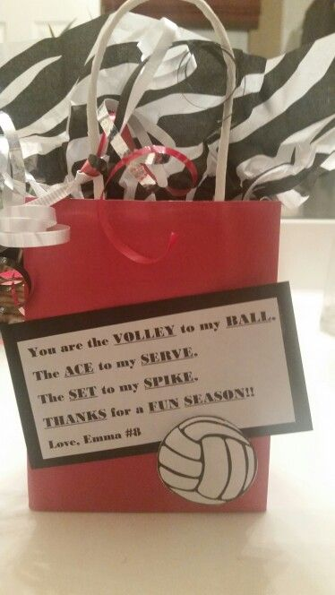 End of the season volleyball treat bag
