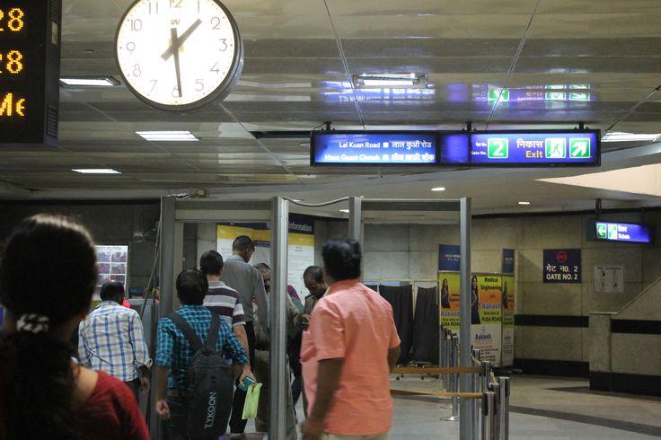 Control de metales en el metro de Delhi