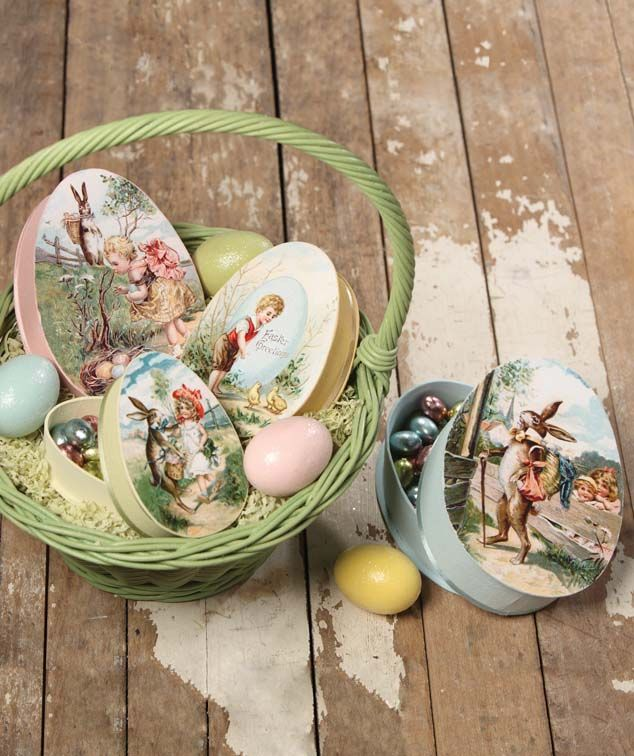 Victorian Nesting Eggs Easter Treat Boxes