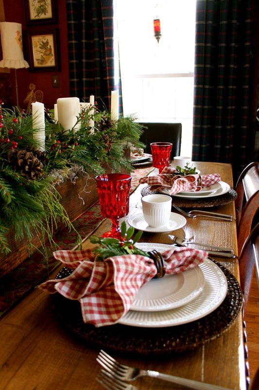Simple and lovely - would mix the white dishes with my Spode red & white polka dot ones.