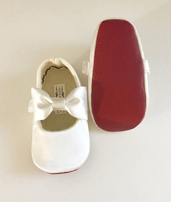 Red Bottom ivory Baby Girl Shoes