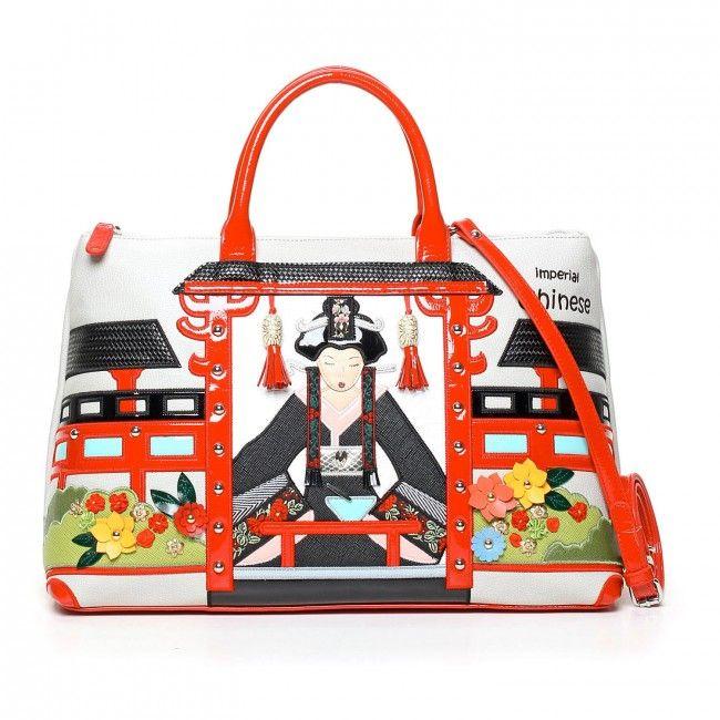 Borsa Braccialini Cartoline Cina #bags #handbags #braccialini #cartoline