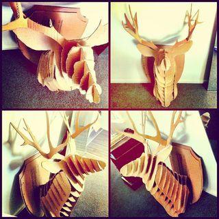 Free DIY deer head with template