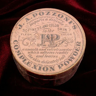 Early Pozzoni powder was packaged in wooden boxes like this 1887