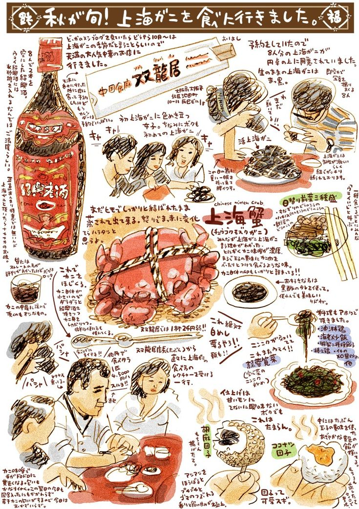 旬の上海蟹を喰らうの画像:週間山崎絵日和