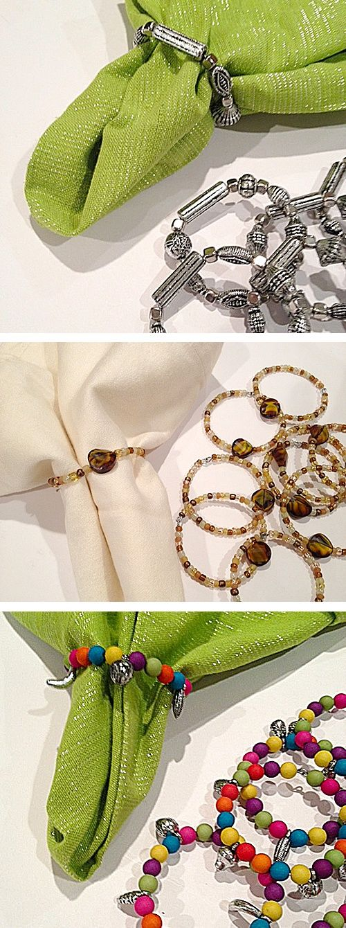 beaded napkin ring ideas
