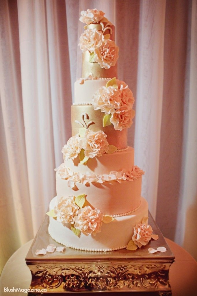 white peach and gold wedding cake 52 best high culture weddings amp special events images on 27306