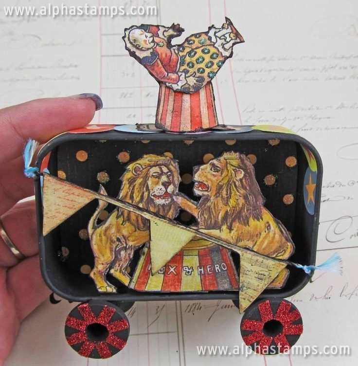 Circus Train Car Swap: Altered States, Cars Swap, Altered Altoids, Travel Carnivals, Altered Tins, Altered Art, Photo, Altoids Tins, Training Cars