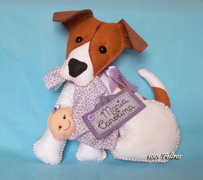 1001 Feltros: Cachorrinhos na porta da maternidade