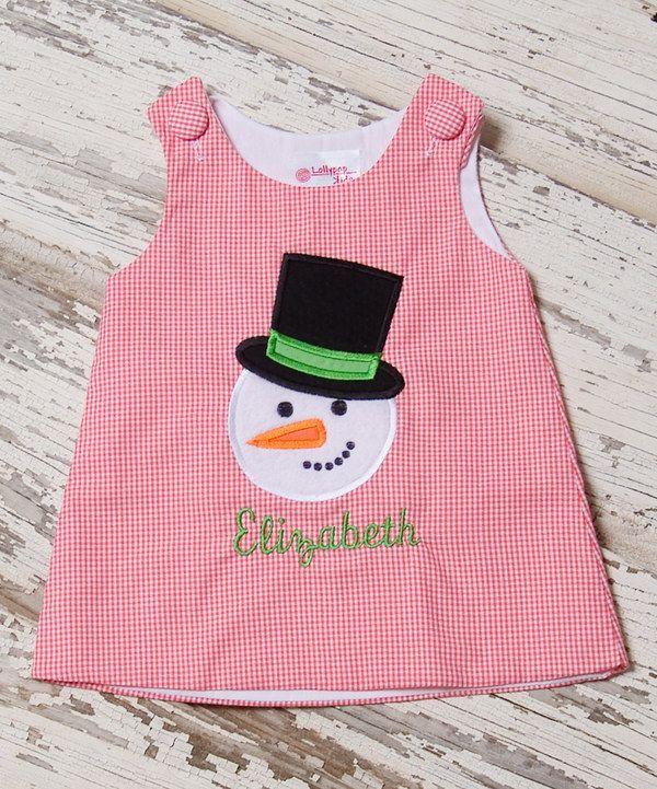 Lollypop Kids Clothing Watermelon Gingham Snowman