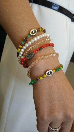 Relate bracelets combined with pearls