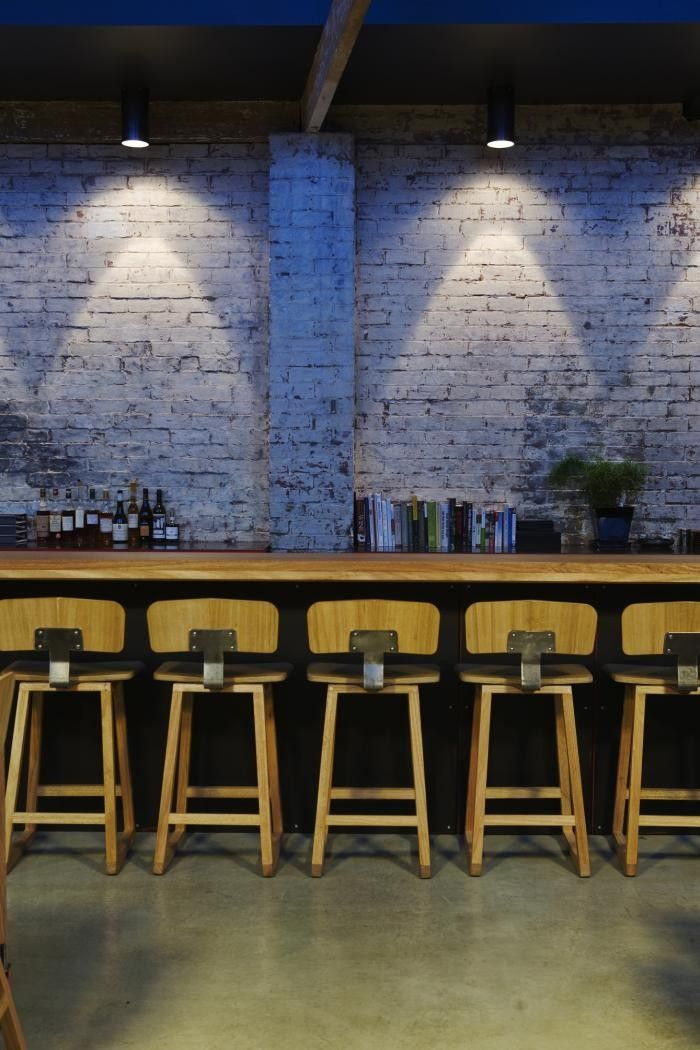 a garage turned restaurant in tasmania - Beaded Inset Restaurant Decoration
