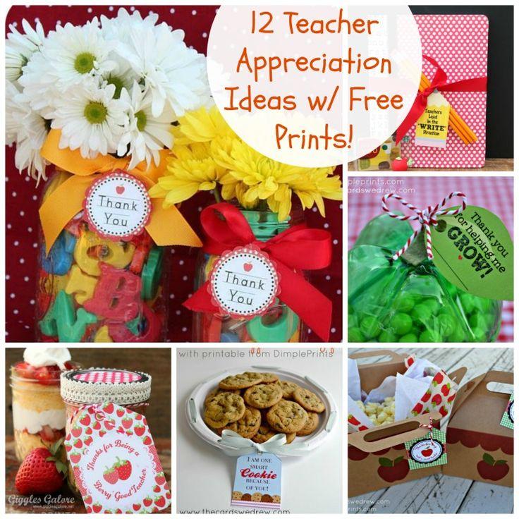 12 Teacher Appreciation Ideas with Free Prints