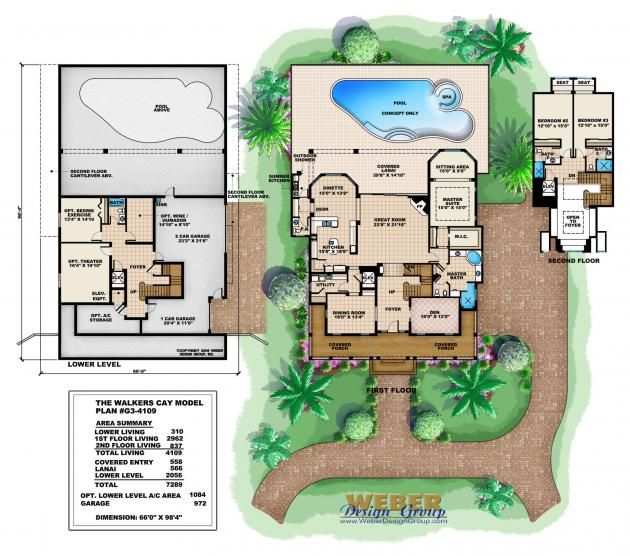 Florida house plans with pool 28 images florida house for Lucky 4 ranch floor plan