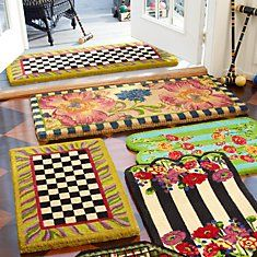 Entrance Mats by MacKenzie Childs of course...pretty!