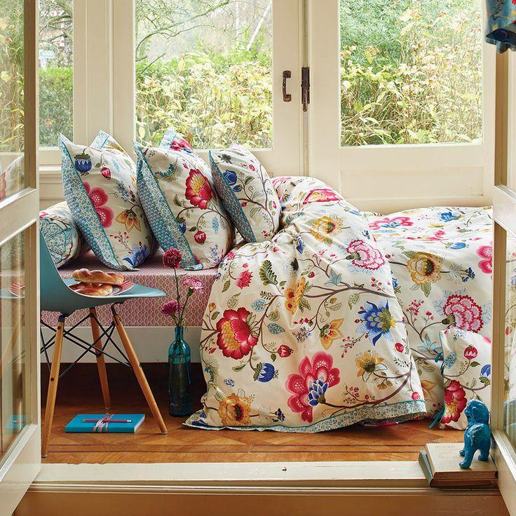 PiP Studio Floral Fantasy Double Duvet Cover Set, Ecru | ACHICA