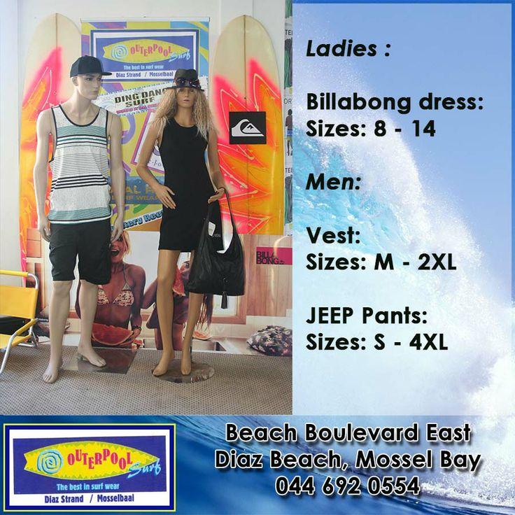 Come and visit our store for beautiful Billabong dress to were on valentine's day. And we also have some Vest for the men. #billabong #vest
