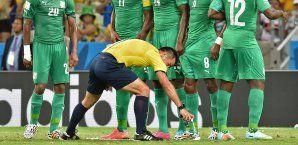 Bei der WM diente das Spray erstmals als Hilfsmittel für die Schiedsrichter