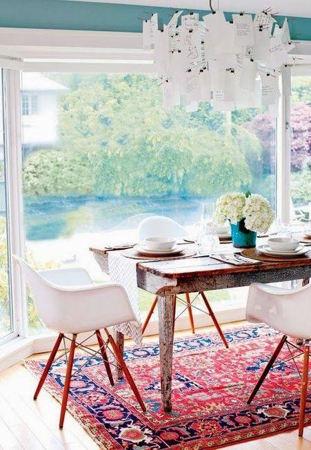 Mix chaises Eames et tapis d'orient