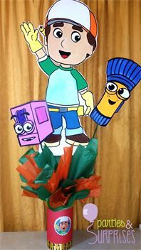 Handy Manny Party : Handy Manny Handpainted Centerpiece